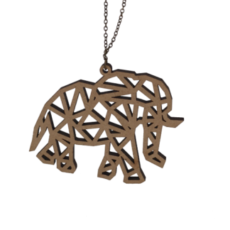 Collier-Elephant-face