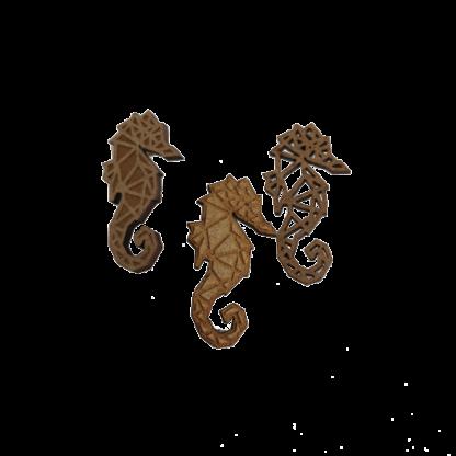 Trio-broche-hippocampe